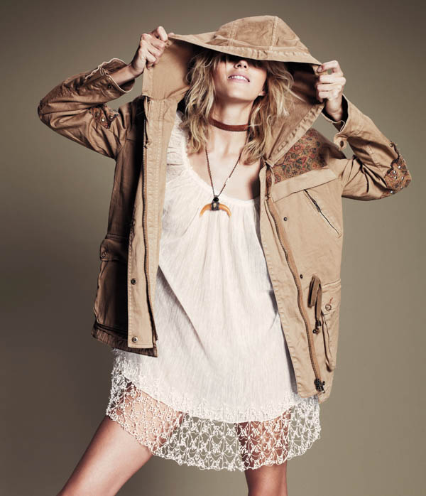 Free People July 2013  Anja Rubik 3 Anja Rubik Fronts Free People July Catalogue