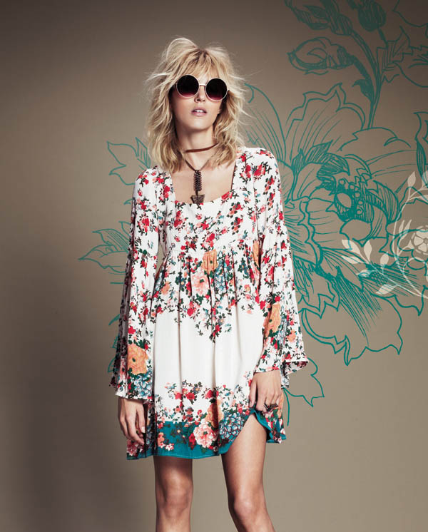 Free People July 2013  Anja Rubik 5 Anja Rubik Fronts Free People July Catalogue