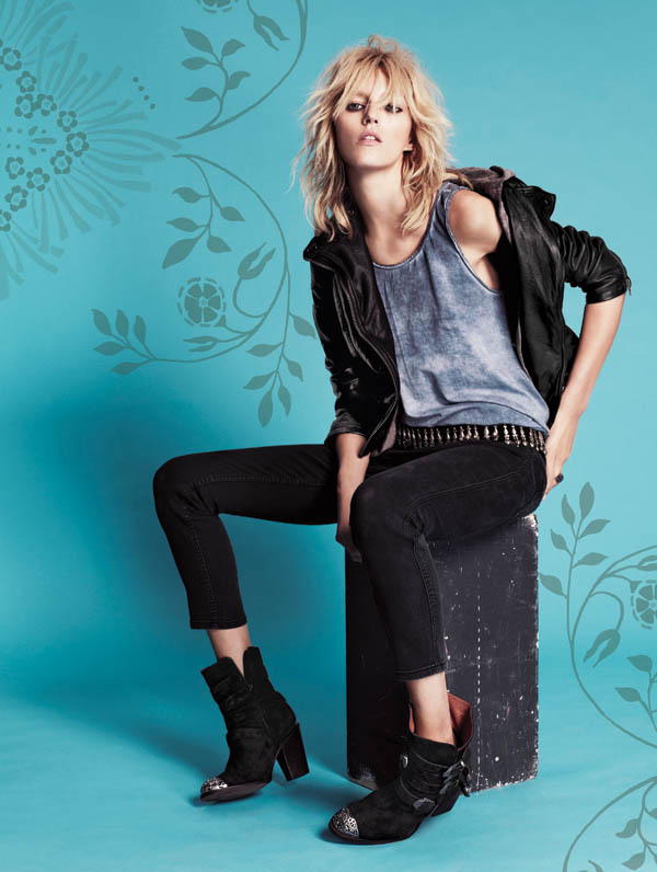 Free People July 2013  Anja Rubik 6 Anja Rubik Fronts Free People July Catalogue