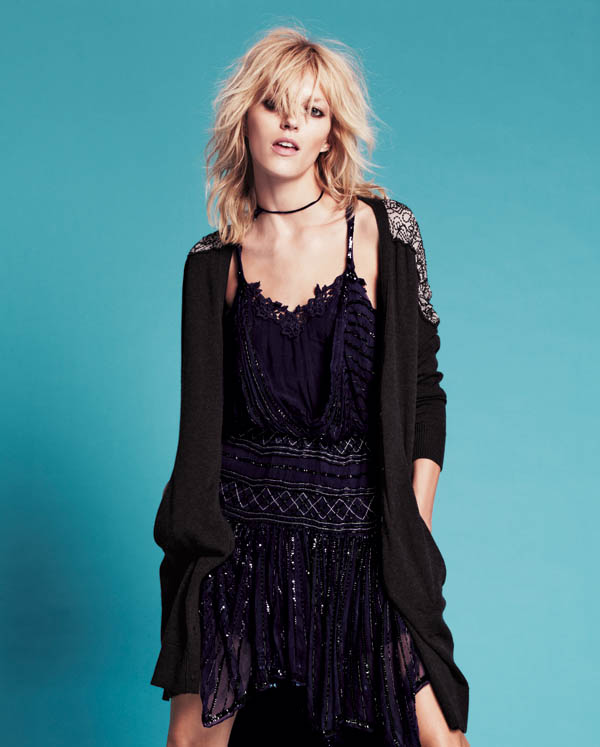 Free People July 2013  Anja Rubik 7 Anja Rubik Fronts Free People July Catalogue