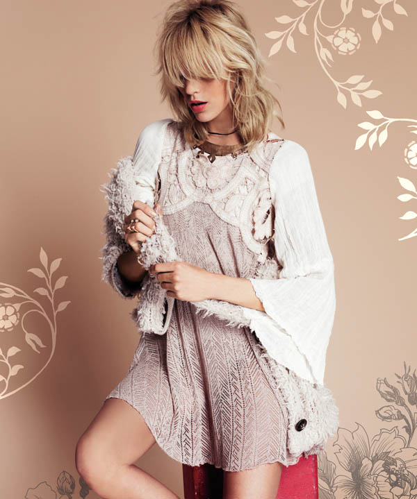 Free People July 2013  Anja Rubik 9 Anja Rubik Fronts Free People July Catalogue