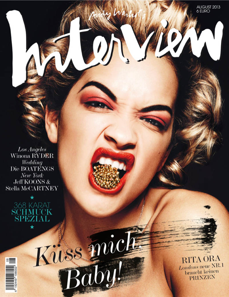 Rita Ora Fronts Interview Germany August 2013 Cover