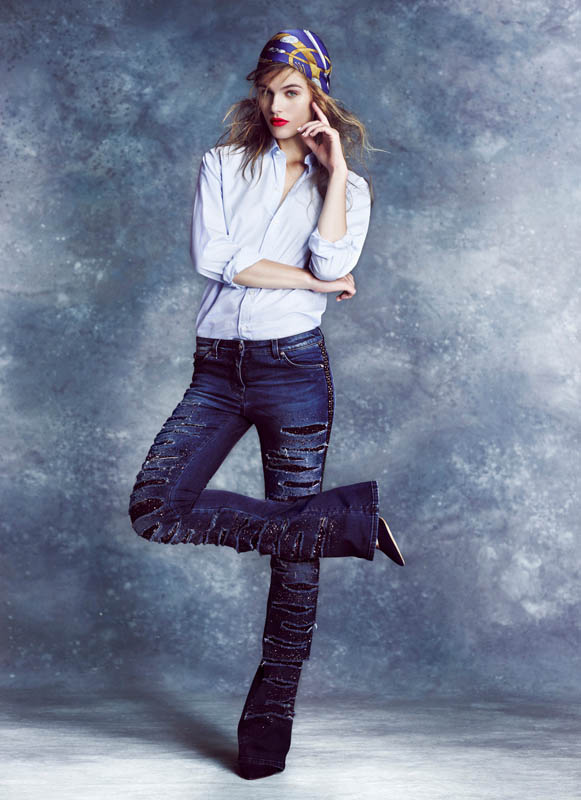 Denim Clad Madison Headrick Poses for Arved Colvin-Smith in The Sunday Times Style
