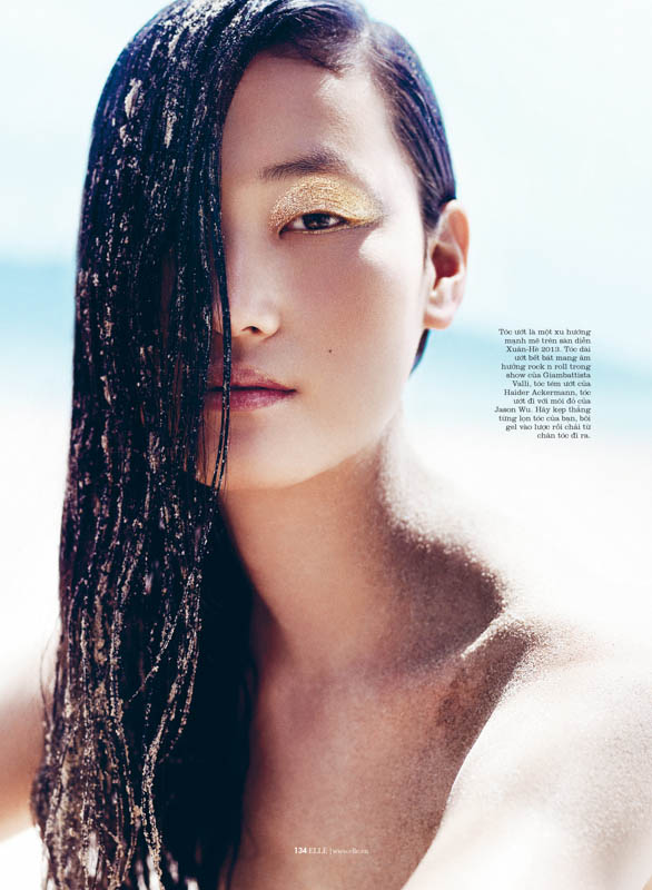 StocktonJohnson LinaZhang ELLE July2013 3 Lina Zhang is Sunkissed for Elle Vietnam July 2013 by Stockton Johnson