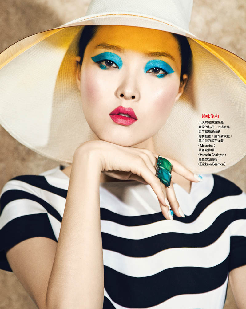 VG201 P158 159 copy Sung Hee Kim Dons Blue Hues for Vogue Taiwan June 2013 by Yossi Michaeli