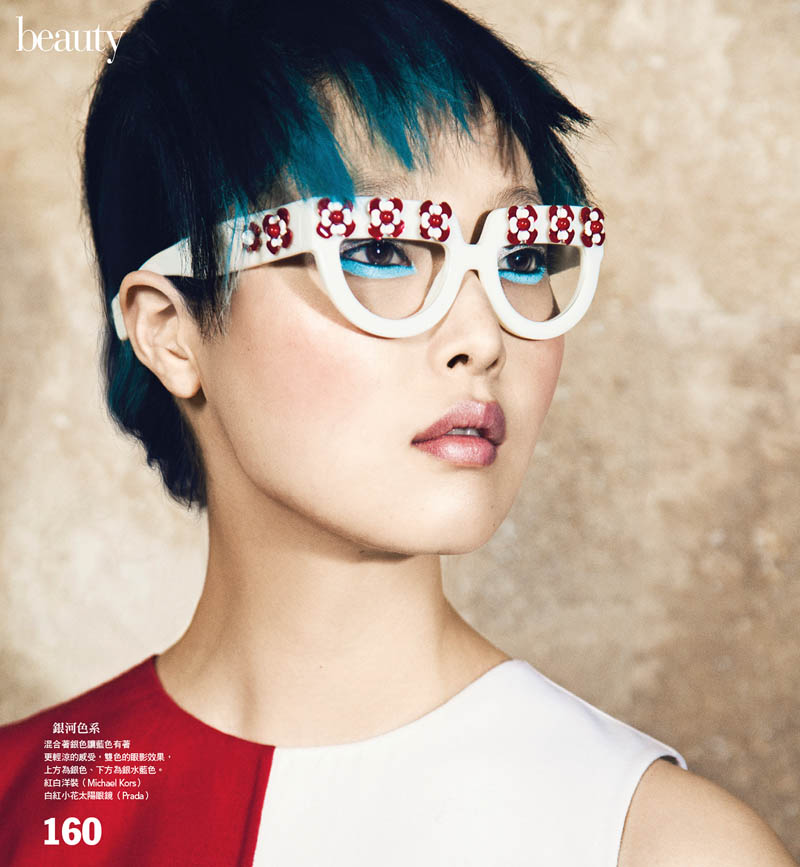 VG201 P160 161 Sung Hee Kim Dons Blue Hues for Vogue Taiwan June 2013 by Yossi Michaeli