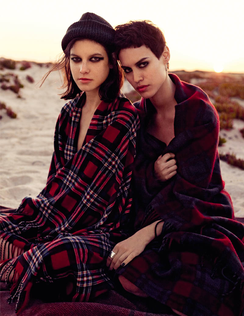 WELL Mushigain Dunina12 Tati and Alana Model Rock Style for Vogue Russia July 2013 by David Mushegain
