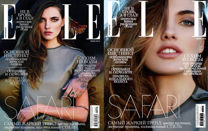 Alina Baikova Stars in Elle Russia July 2013 Cover Story