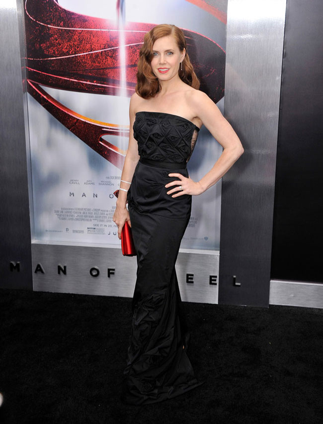 amy adams nina ricci1 Amy Adams Dons Nina Ricci at the Man of Steel New York Premiere