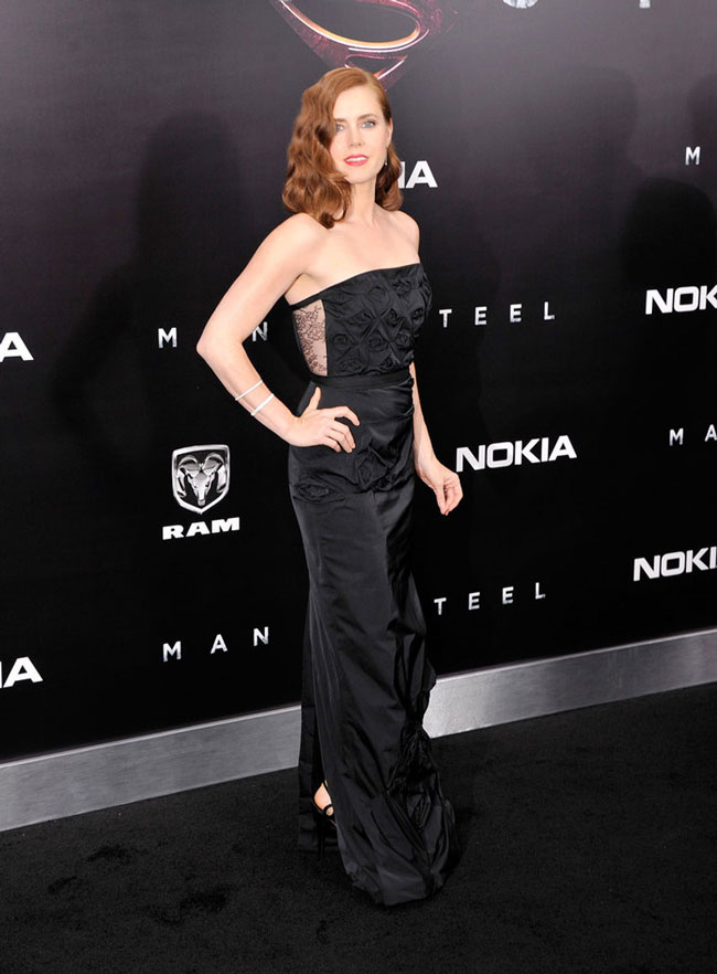 "Amy Adams Dons Nina Ricci at the ""Man of Steel"" New York Premiere"