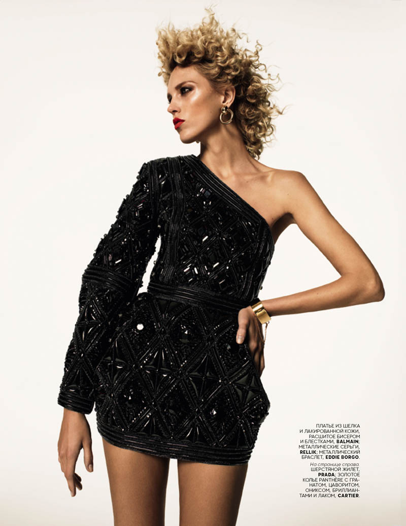 anja richard bush2 Anja Rubik Stars in Vogue Russia July 2013 Cover Shoot by Richard Bush