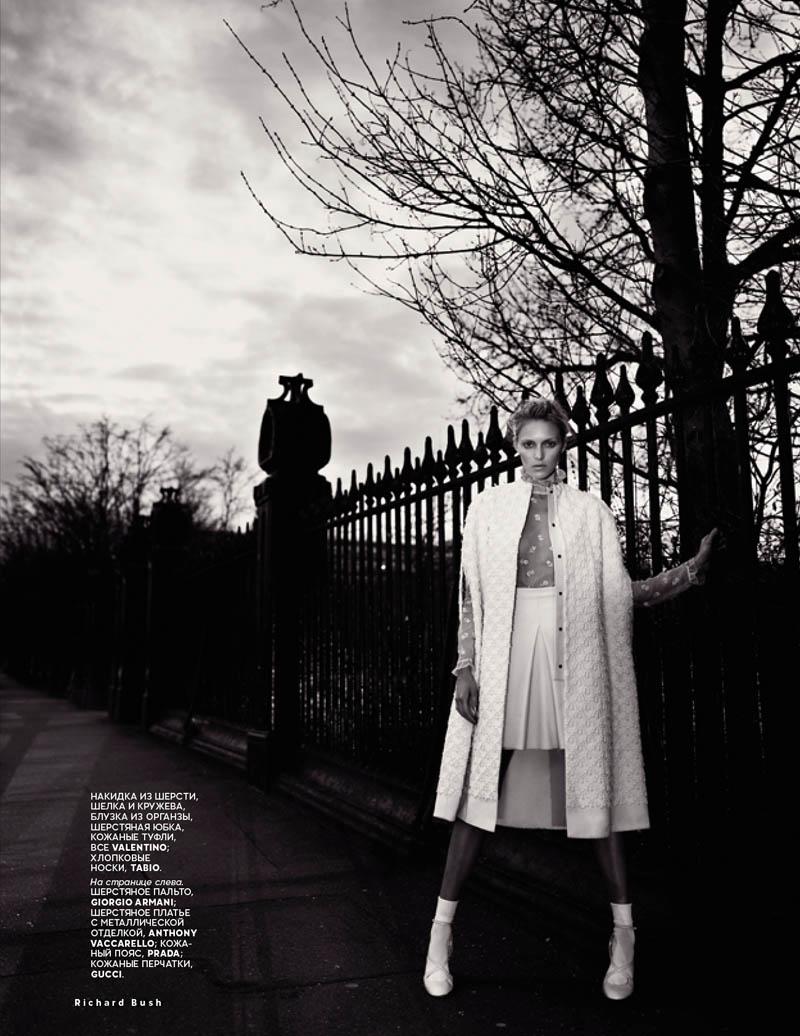 Anja Rubik Stars in Vogue Russia July 2013 Cover Shoot by Richard Bush