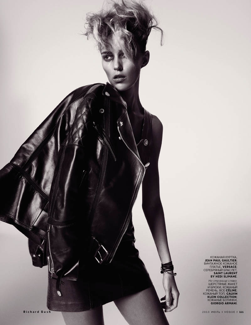 anja richard bush7 Anja Rubik Stars in Vogue Russia July 2013 Cover Shoot by Richard Bush