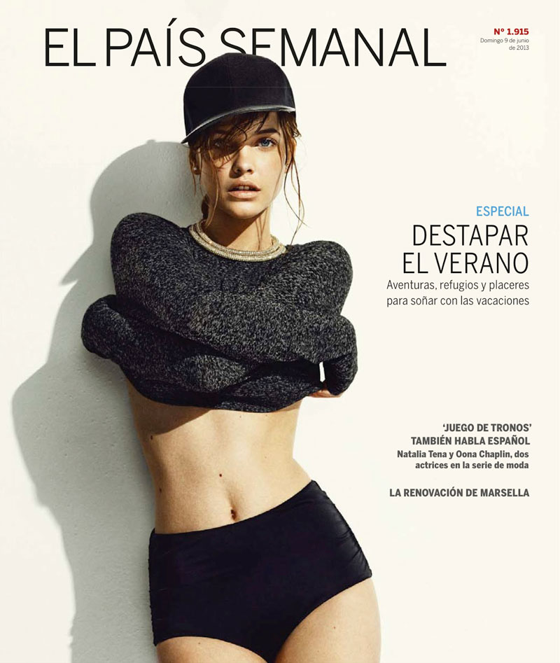 barbara summer3 Barbara Palvin Has a Hot Summer for El Pais Semanals June Issue
