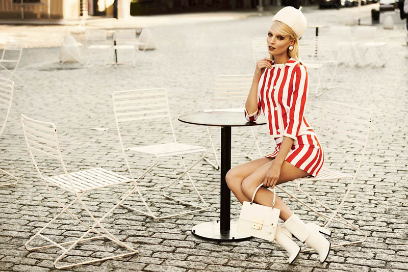 bazaar latin america8 Melissa Tammerijn Gets Retro for Alexander Neumann in Harpers Bazaar Latin America June 2013
