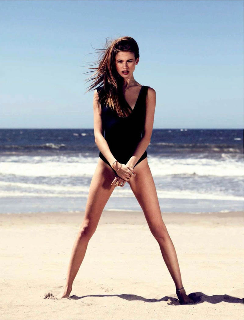 behati venice beach6 Behati Prinsloo Hits Venice Beach for Jalouses June 2013 Issue