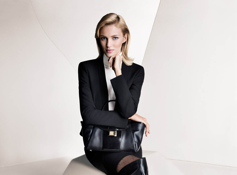 boss fall women1 Anja Rubik and Joan Smalls Front Hugo Boss Fall 2013 Campaign