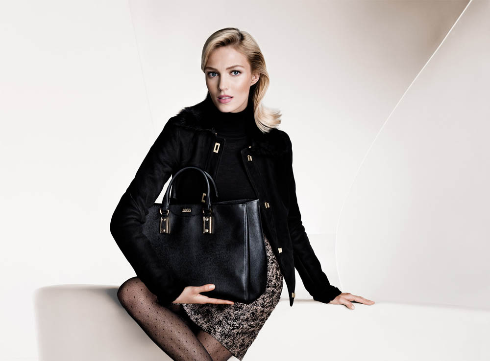 boss fall women3 Anja Rubik and Joan Smalls Front Hugo Boss Fall 2013 Campaign