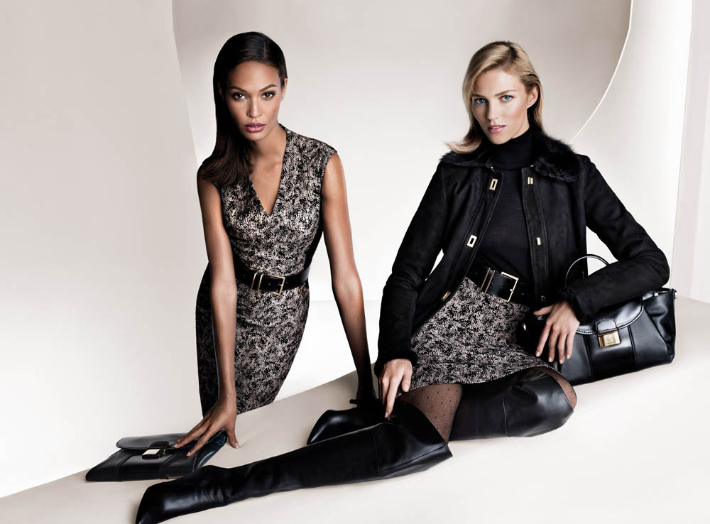 boss fall women4 Anja Rubik and Joan Smalls Front Hugo Boss Fall 2013 Campaign