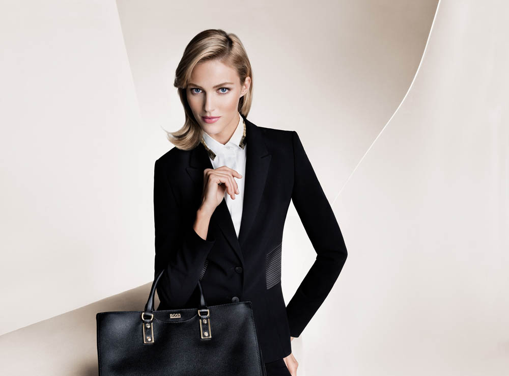boss fall women6 Anja Rubik and Joan Smalls Front Hugo Boss Fall 2013 Campaign