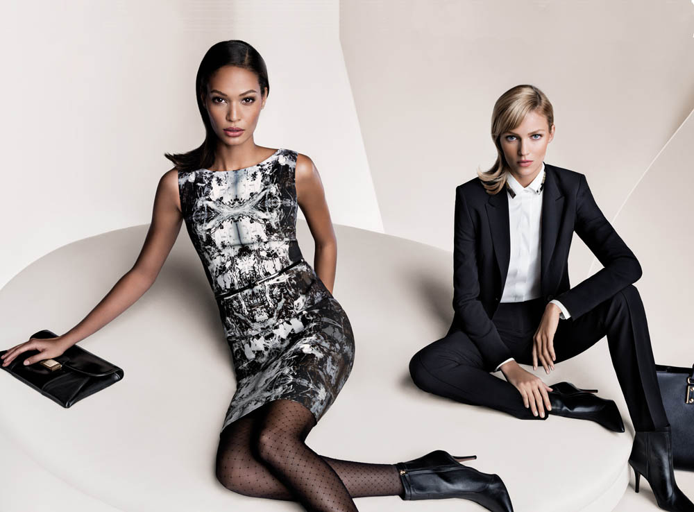 boss fall women7 Anja Rubik and Joan Smalls Front Hugo Boss Fall 2013 Campaign