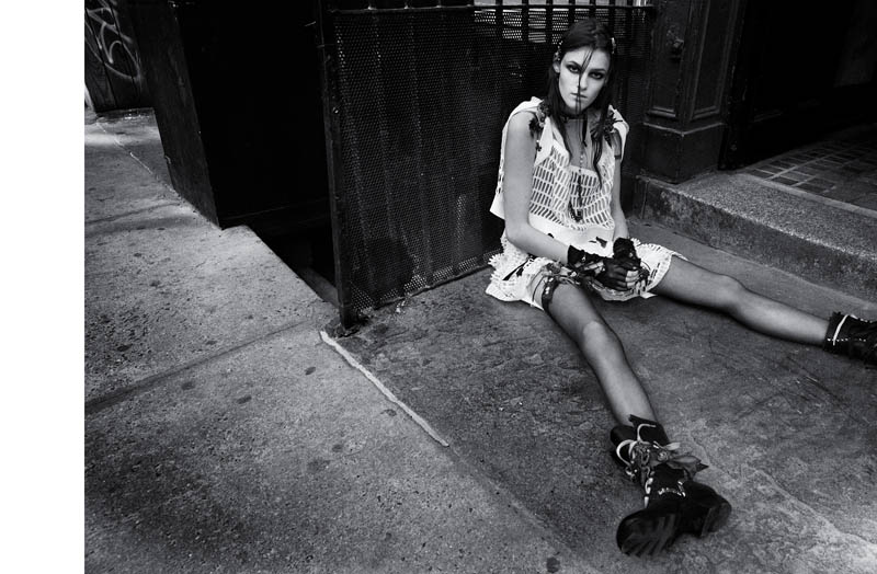 bowery girl1 Kremi Otashliyska is a Bowery Girl for Numéro #144 by Greg Kadel