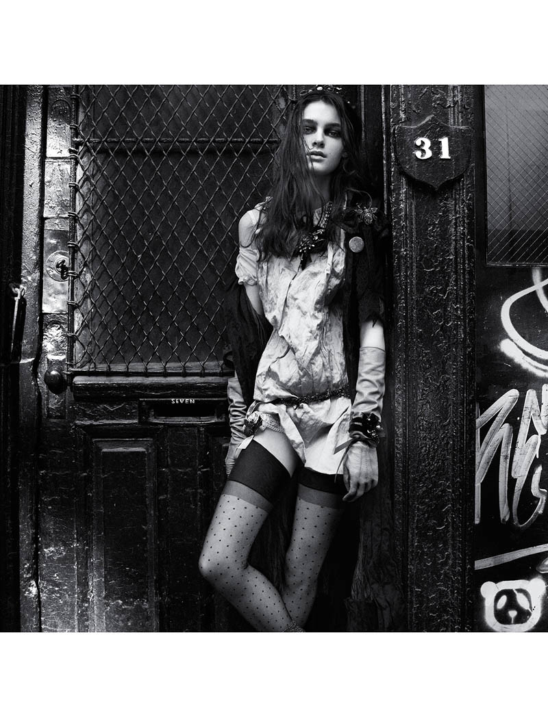 bowery girl13 Kremi Otashliyska is a Bowery Girl for Numéro #144 by Greg Kadel