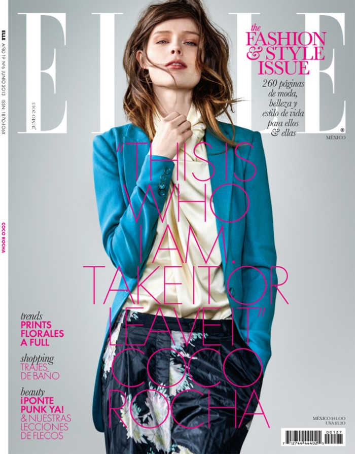 coco rocha elle mexico9 Coco Rocha Stars in Elle Mexico June 2013 Cover Shoot by Santiago Ruiseñor