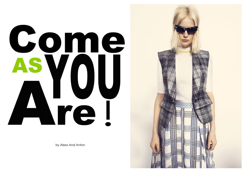 come as you are1 Franzi Mueller & Katrin Thormann Model the New Grunge for Gala by Alexx and Anton