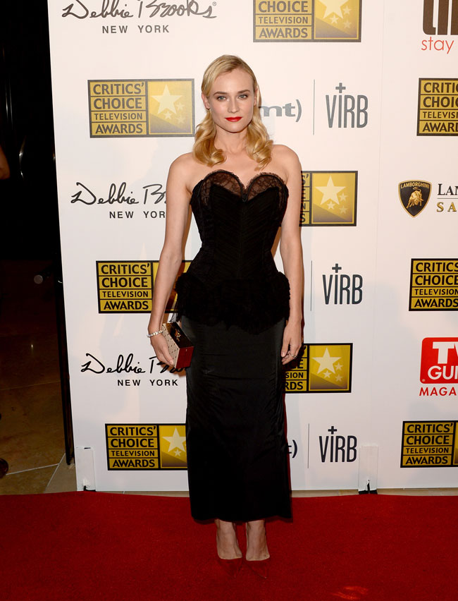 diane kruger nina ricci1 Diane Kruger Wears Nina Ricci to the 3rd Annual Critics Choice Television Awards