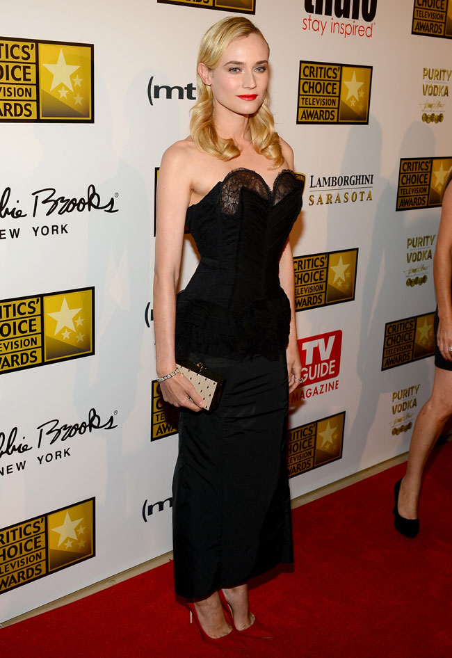 diane kruger nina ricci4 Diane Kruger Wears Nina Ricci to the 3rd Annual Critics Choice Television Awards