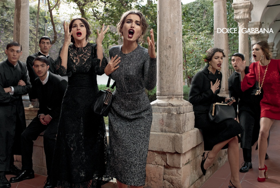 dolce gabbana fall ads10 Dolce & Gabbana Serves Up Drama for Fall 2013 Campaign with Bianca, Monica, Andreea and Kate
