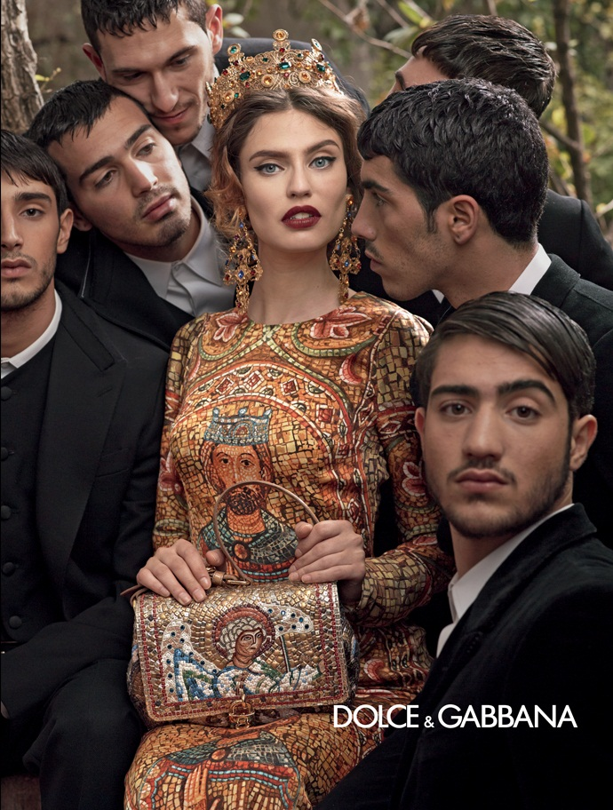 dolce gabbana fall ads11 Dolce & Gabbana Serves Up Drama for Fall 2013 Campaign with Bianca, Monica, Andreea and Kate