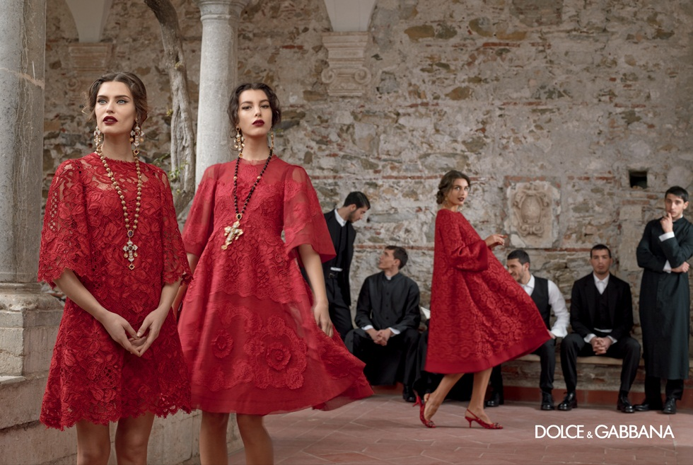 dolce gabbana fall ads7 Dolce & Gabbana Serves Up Drama for Fall 2013 Campaign with Bianca, Monica, Andreea and Kate