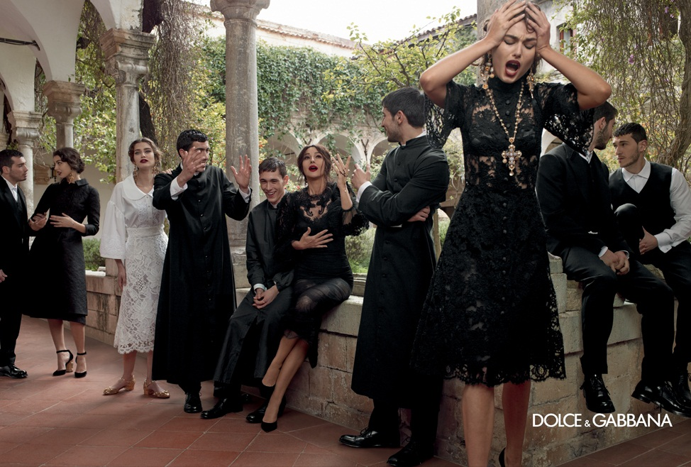 dolce gabbana fall ads8 Dolce & Gabbana Serves Up Drama for Fall 2013 Campaign with Bianca, Monica, Andreea and Kate