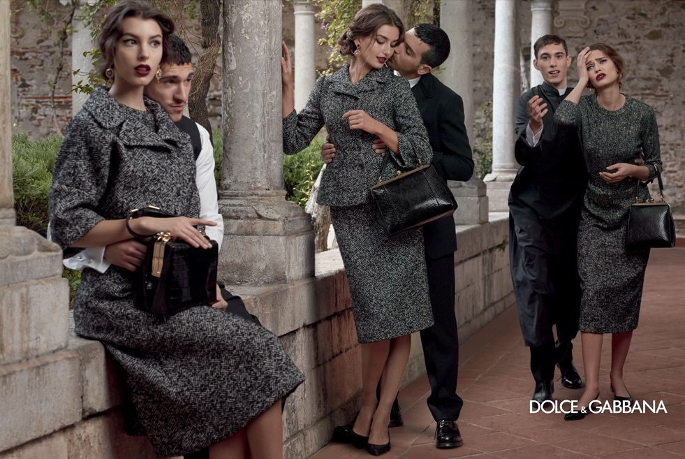 dolce gabbana fall ads9 Dolce & Gabbana Serves Up Drama for Fall 2013 Campaign with Bianca, Monica, Andreea and Kate
