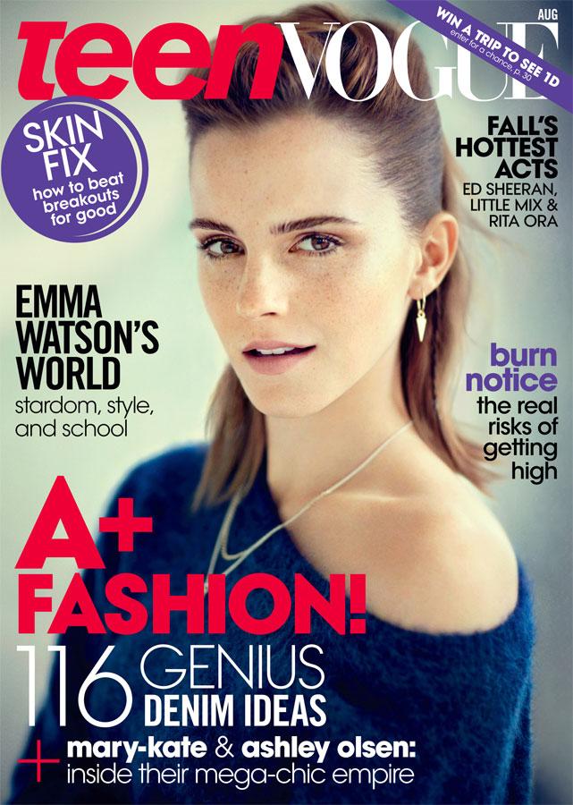 Emma Watson Covers Teen Vogue August 2013