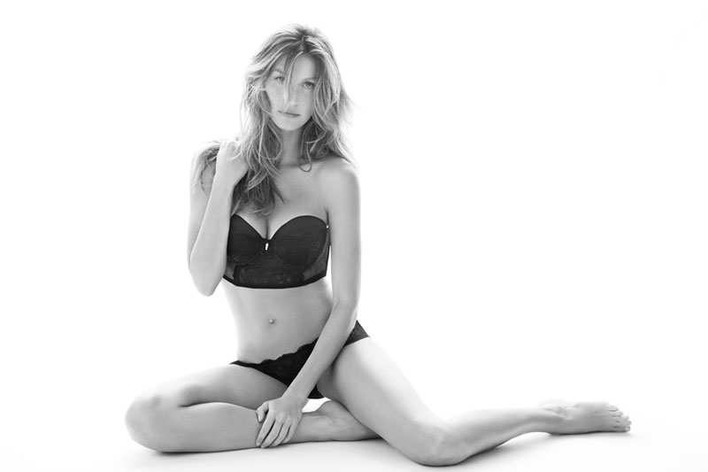 gisele lingerie3 Lingerie Clad Gisele Bundchen Models Her Intimates Collection