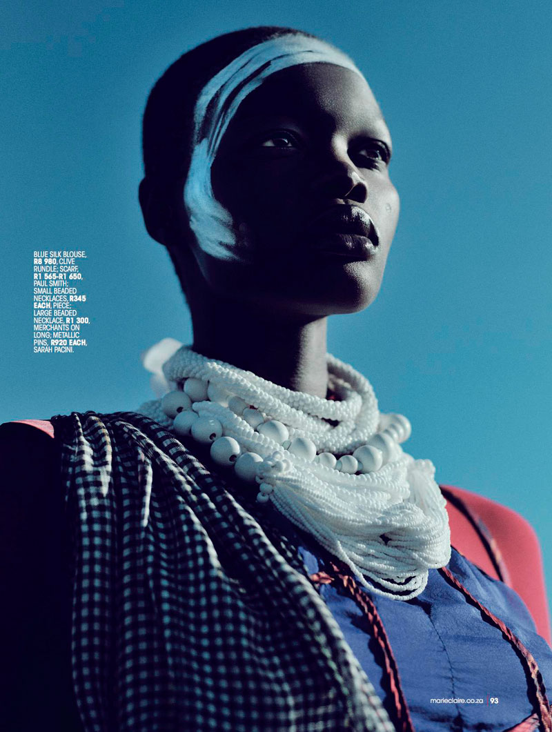 highlander marie claire4 Aluad Deng Anei Sports Tartans and Plaids for Marie Claire South Africa