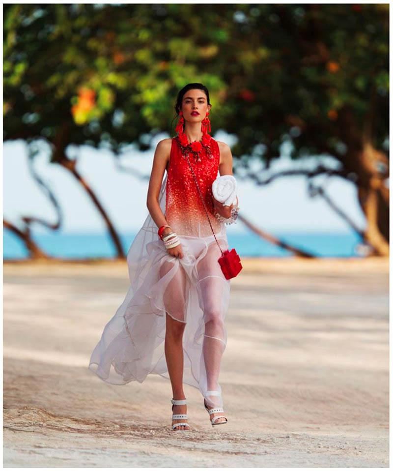 jacquelyn hans feurer dujour2 Jacquelyn Jablonski Dons Summer Style for Dujour Magazine by Hans Feurer