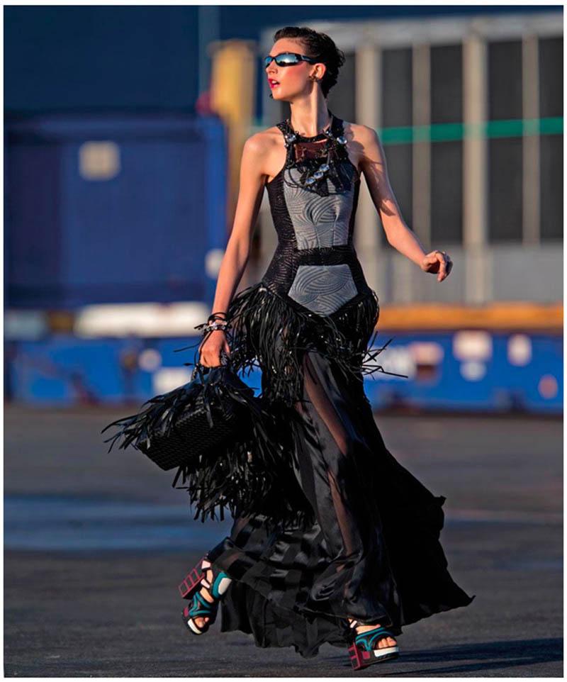 jacquelyn hans feurer dujour3 Jacquelyn Jablonski Dons Summer Style for Dujour Magazine by Hans Feurer