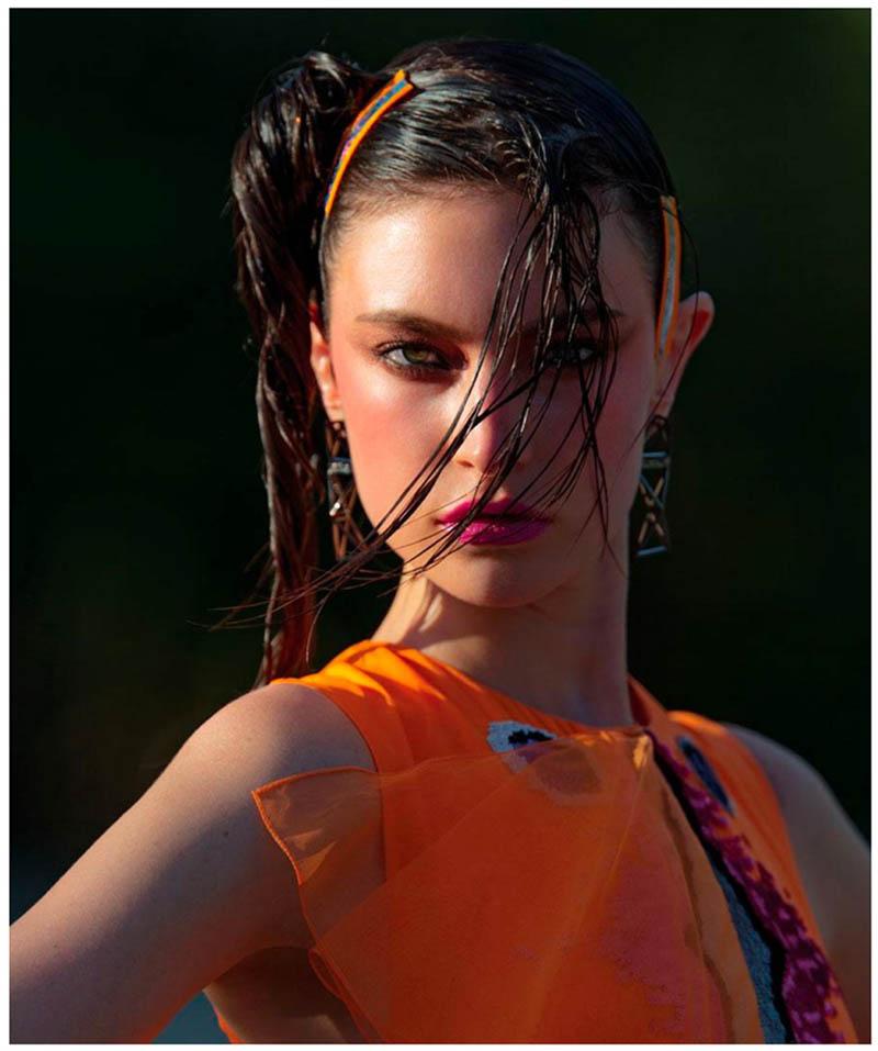 jacquelyn hans feurer dujour4 Jacquelyn Jablonski Dons Summer Style for Dujour Magazine by Hans Feurer