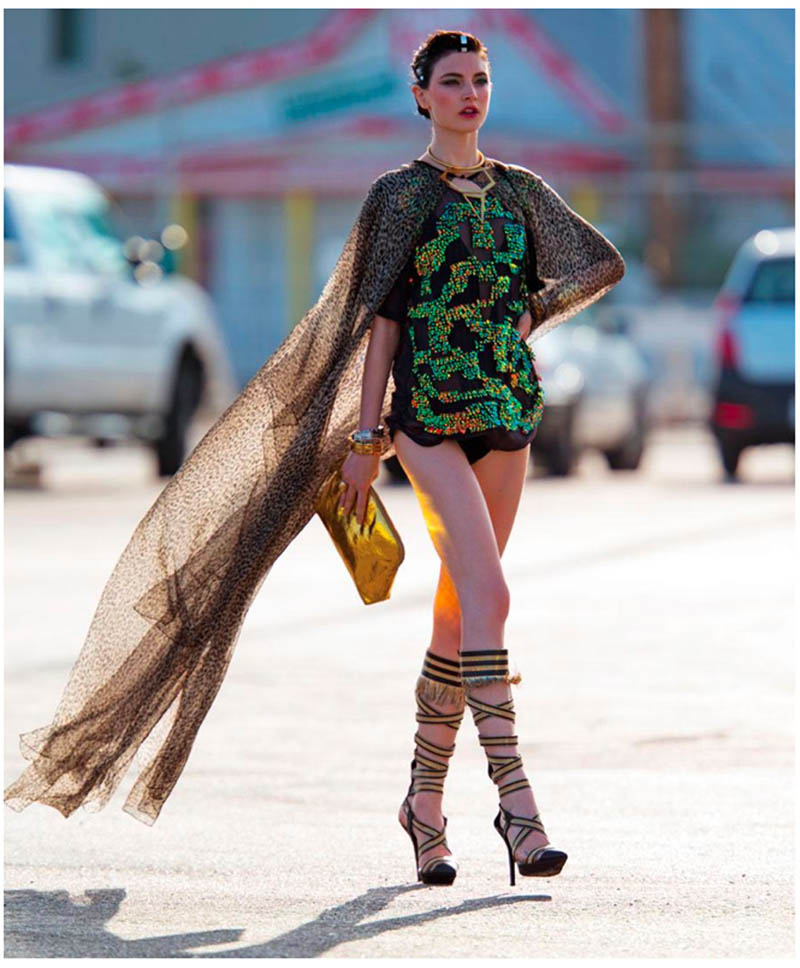 jacquelyn hans feurer dujour5 Jacquelyn Jablonski Dons Summer Style for Dujour Magazine by Hans Feurer