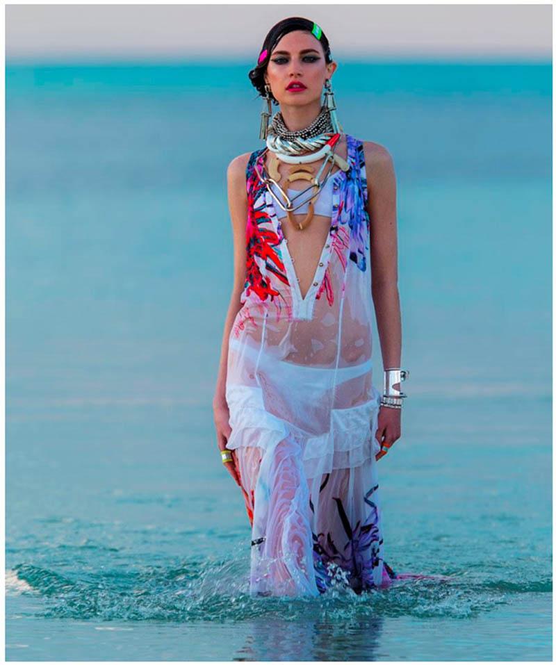 jacquelyn hans feurer dujour7 Jacquelyn Jablonski Dons Summer Style for Dujour Magazine by Hans Feurer