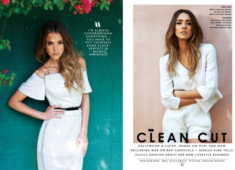 Jessica Alba is 'Clean Cut' for The Sunday Times Style by Eric Guillemain