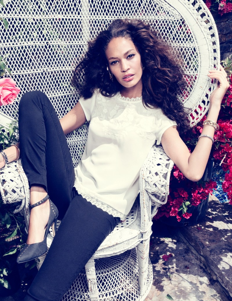 joan smalls romantic edge1 H&M Taps Joan Smalls for Romantic Edge Style Book