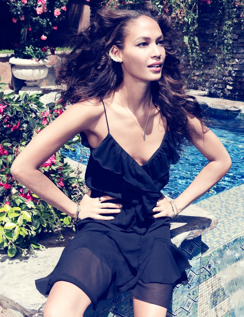joan smalls romantic edge5 H&M Taps Joan Smalls for Romantic Edge Style Book