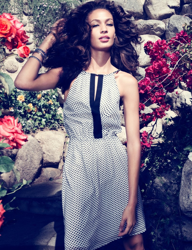 joan smalls romantic edge8 H&M Taps Joan Smalls for Romantic Edge Style Book