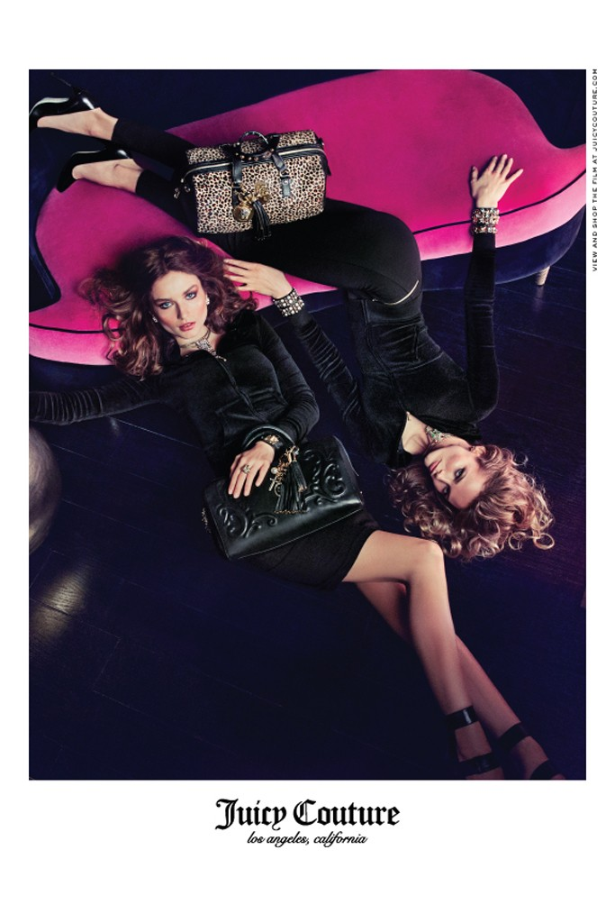 juicy couture fall campaign1 Juicy Couture Taps Edita Vilkeviciute and Andreea Diaconu for Fall 2013 Campaign by Inez & Vinoodh
