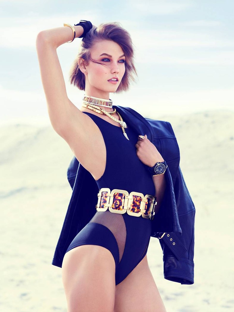 karlie kloss swimwear4 Swimsuit Clad Karlie Kloss Poses for Miguel Reveriego in Vogue Turkey June 2013